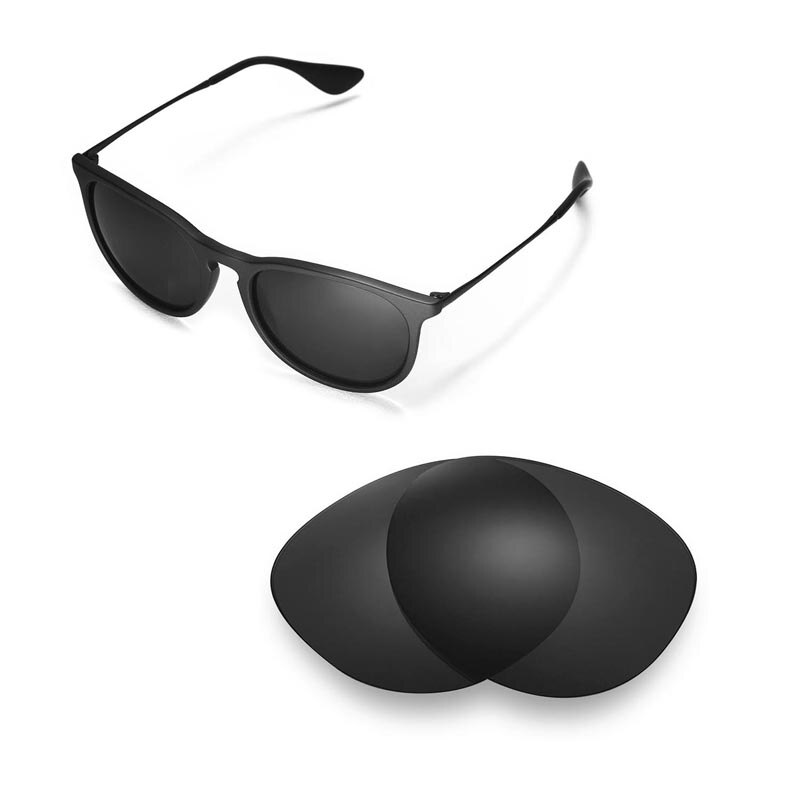 Walleva Polarized Replacement Lenses for Ray-Ban Erika RB4171 54mm Sunglasses USA shipping