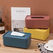 Simple tiroir plateau innovant serviette stockage belle couverture en bois boîte à mouchoirs bureau maison cuisine stockage en plastique distributeur