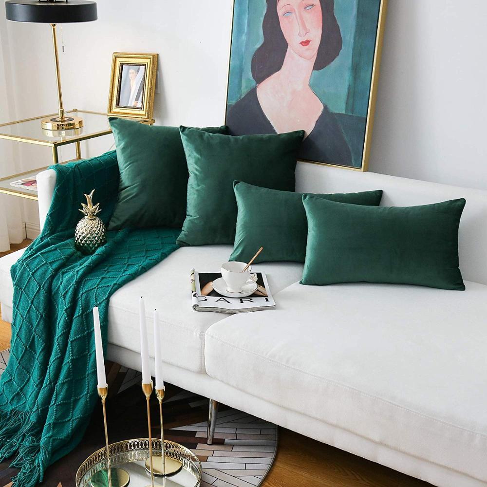 26colors Cushion Cover 30x50 Rectangle Pillow Case For Living Room Sofa Velvet Throw Pillowcase Home