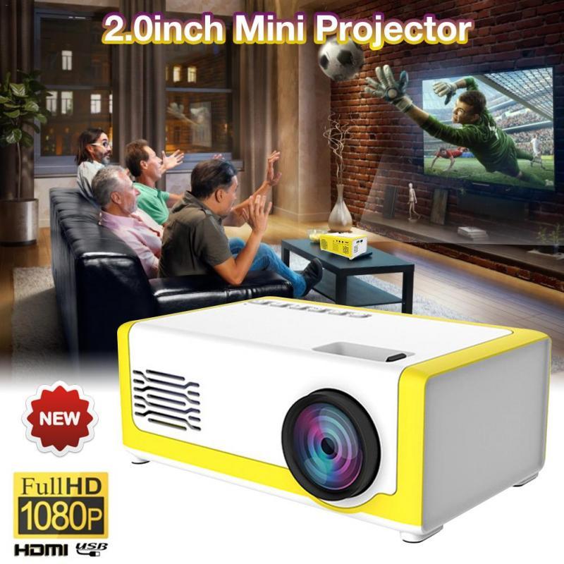 Mini proyector portátil YG300 LED proyector 600 Lumen 3,5mm Audio 320x240 píxeles YG-300 HDMI Mini proyector USB reproductor de medios para el hogar