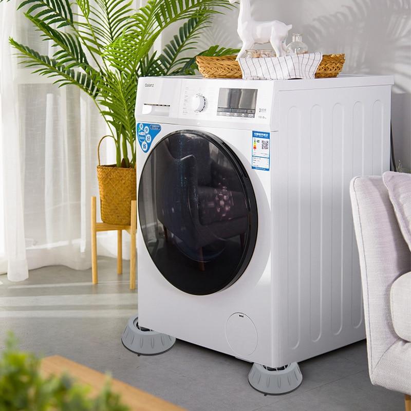 4pcs Universal Washing Machine Foot Pad Increased Anti-skid Pad Shock Absorber Drum Anti-shake Refri