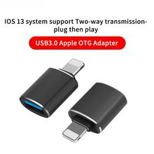 OTG Adapter for iPhone Xs 11 12 Pro Max Converters Charging Data for iPad IOS 13 To USB 3.0 Suport U