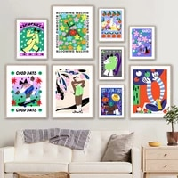 abstract colorful flower people modern wall art canvas painting nordic posters and prints wall pictures for living room decor