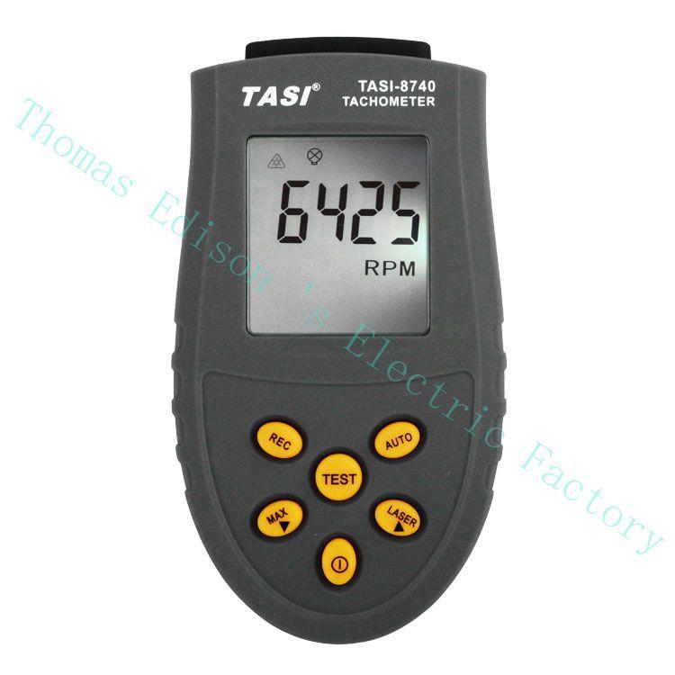 Alta Qualidade Excelente Tacômetro Digital Laser Foto Não Contato 2.5rpm Tester 99999rpm Tach Tasi-8740 Metro