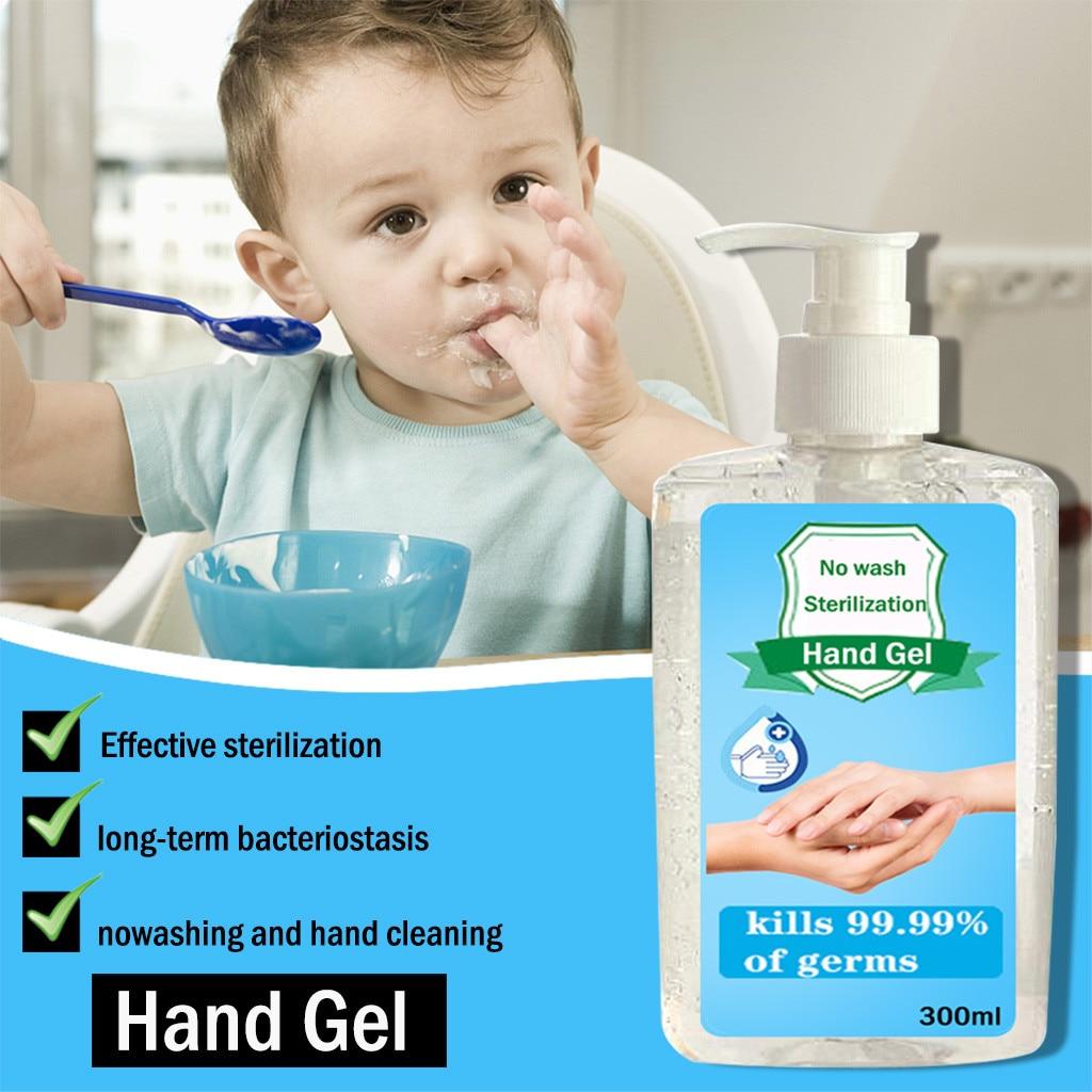 Mini desinfectante de manos portátil bacteriostático portátil sin Alcohol de 300ml, Gel de mano No lavable, limpiador de manos portátil en stock # Z30