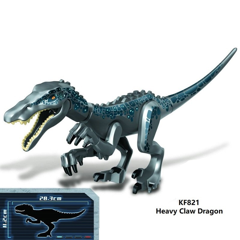 Venta única, bloques de construcción King ghirah, dinosaurio Carnotaurus, lagarto, garra pesada, figuras de bloques de dragón para niños, juguetes KF821