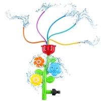 3 in 1 sprinkler outdoor water spray sprinkler kids pool toys rotating baby bath toy summer flower water spray sprinkler toy
