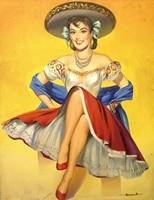 new vintage retro metal tin sign mexican latino pin up girl home kitchen bar bedroom living room wall decor plaque signs