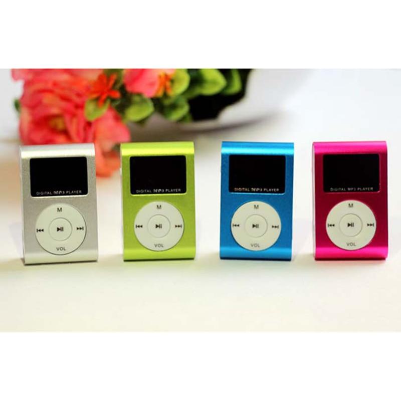 Mini USB Metal Clip MP3 Player LCD Screen Support 32GB Micro SD TF Card Slot Digital Mp3 Music Playe