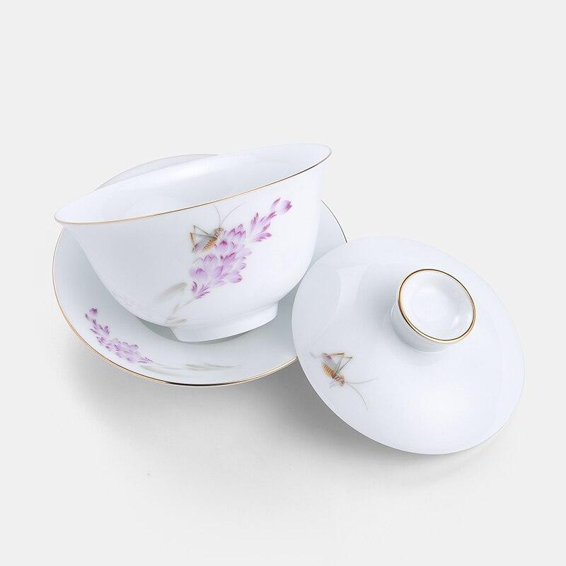 وعاء سيراميك بغطاء ، gaiwan ، إبريق شاي Kongfu الصيني من الخزف ، تقاليد الصينية ، مجموعة Gaiwan