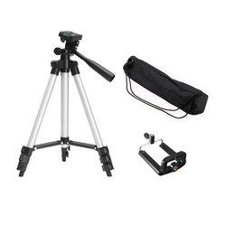 Suporte flexível portátil do telefone móvel câmera telescópica tripé com suporte de montagem com saco de transporte para o telefone inteligente filmadora