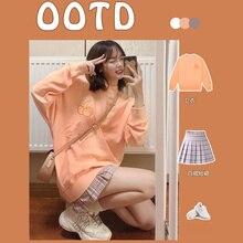 Sweet Student Wear Suit Female Influencer Salt Sweet Fried Street Girl Sweatshirt Wear Pleated Skirt