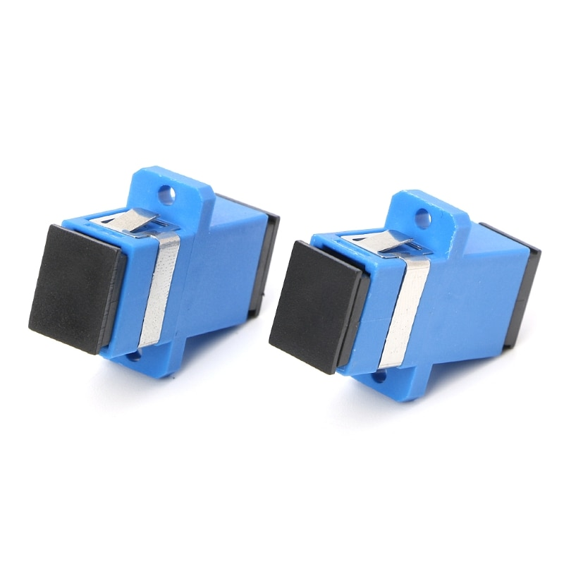 10 pces sc/upc adaptador de fibra óptica sc fibra óptica flange sc/upc conector 425d