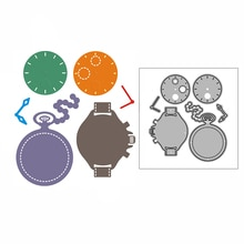 New Couple Watch Gift Craft Embossing Mold 2021 Metal Cutting Dies for DIY Decorative Scrapbooking A