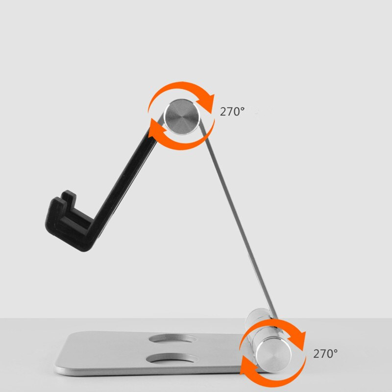 (50pcs/lot) Multiple Angles 3 Color Optional Double Axis Adjustment Universal Aluminum Foldable Tablet Mobile Phone Holder enlarge