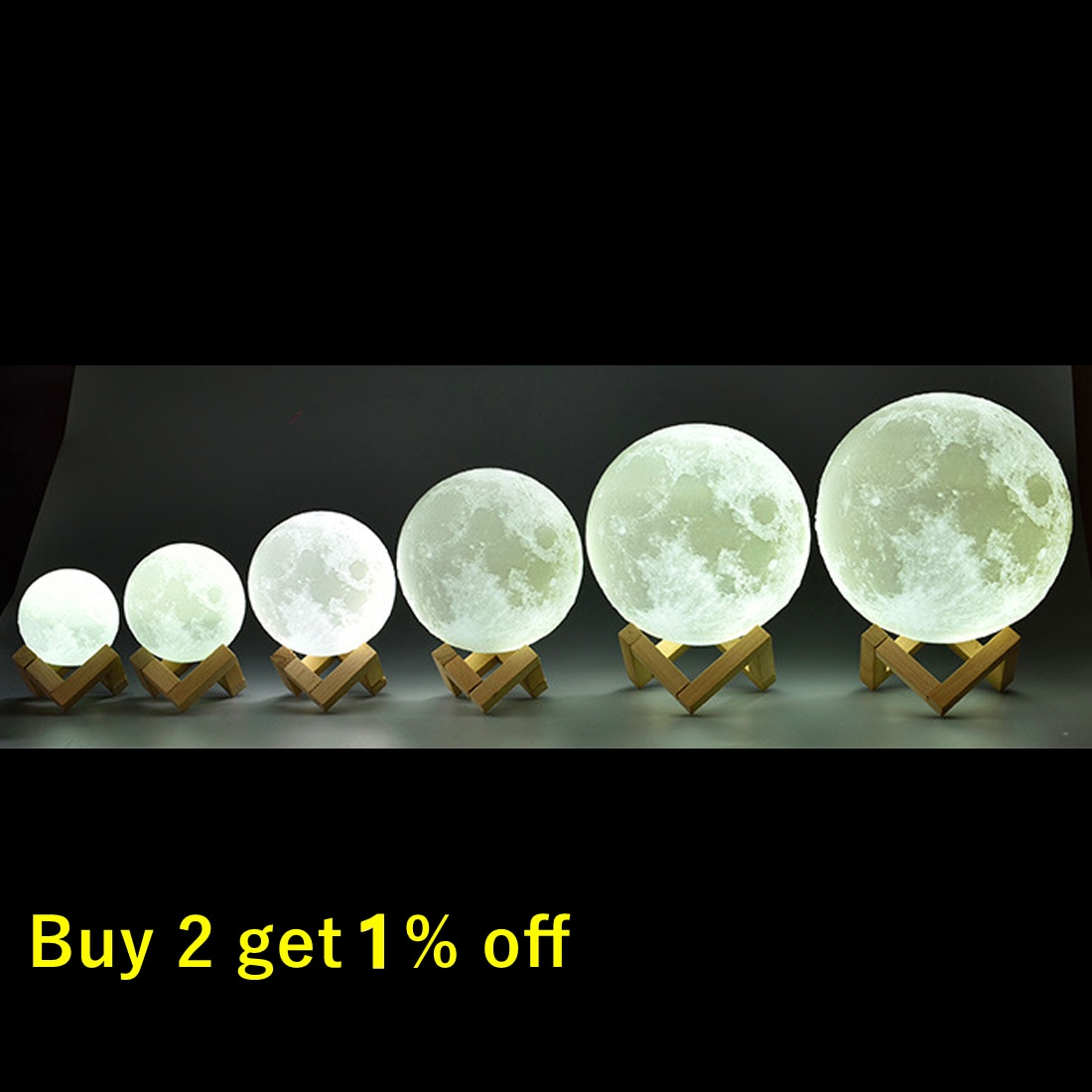 Rechargeable Moon Lamp 2 Color Change 3D Light Touch Switch 3D Print Lamp Moon Bedroom Bookcase Nigh