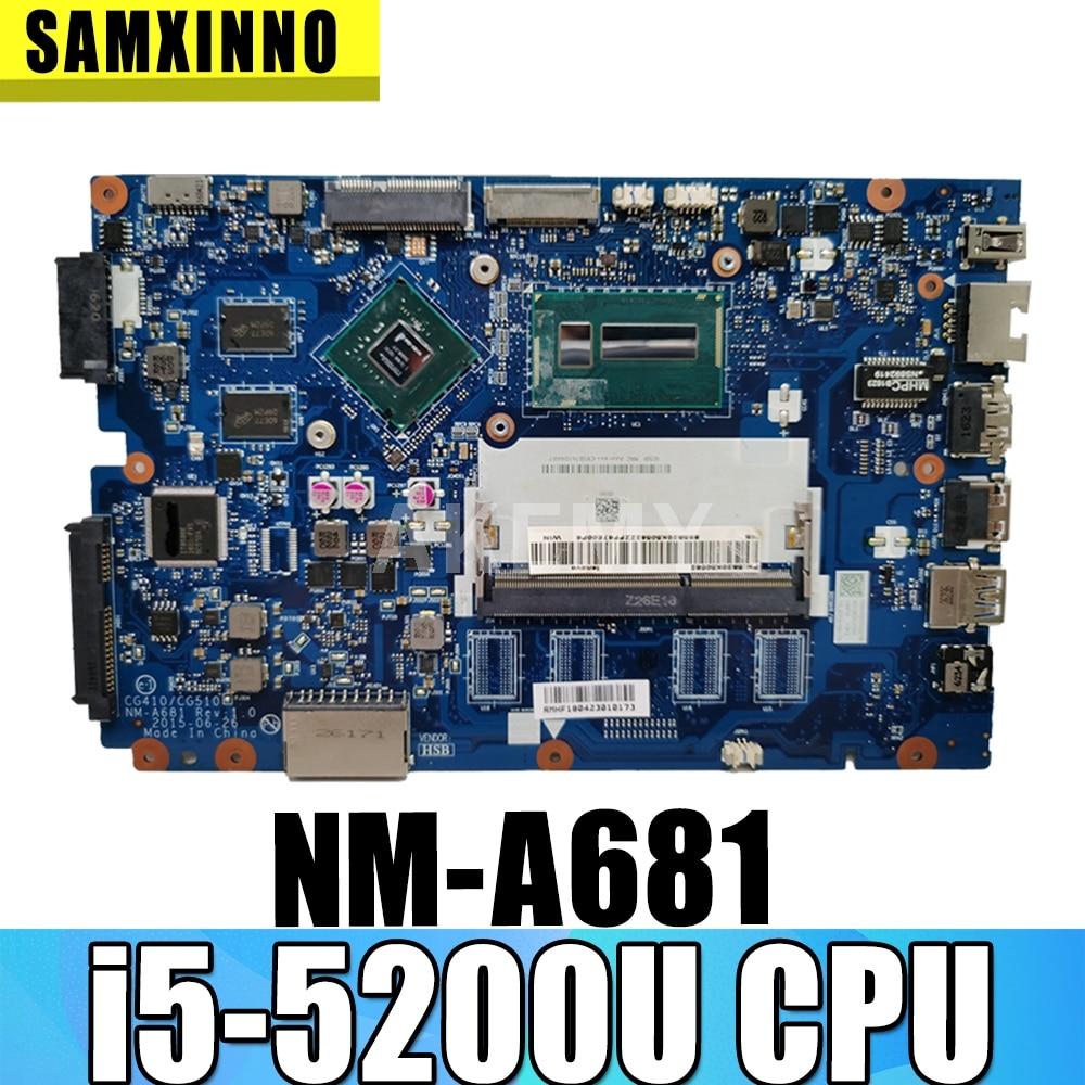 Para Lenovo Ideapad 100-14IBD 100 14IBD CG410 CG510 NM-A681 Motherboard i5-5200U 920 M 1 GB