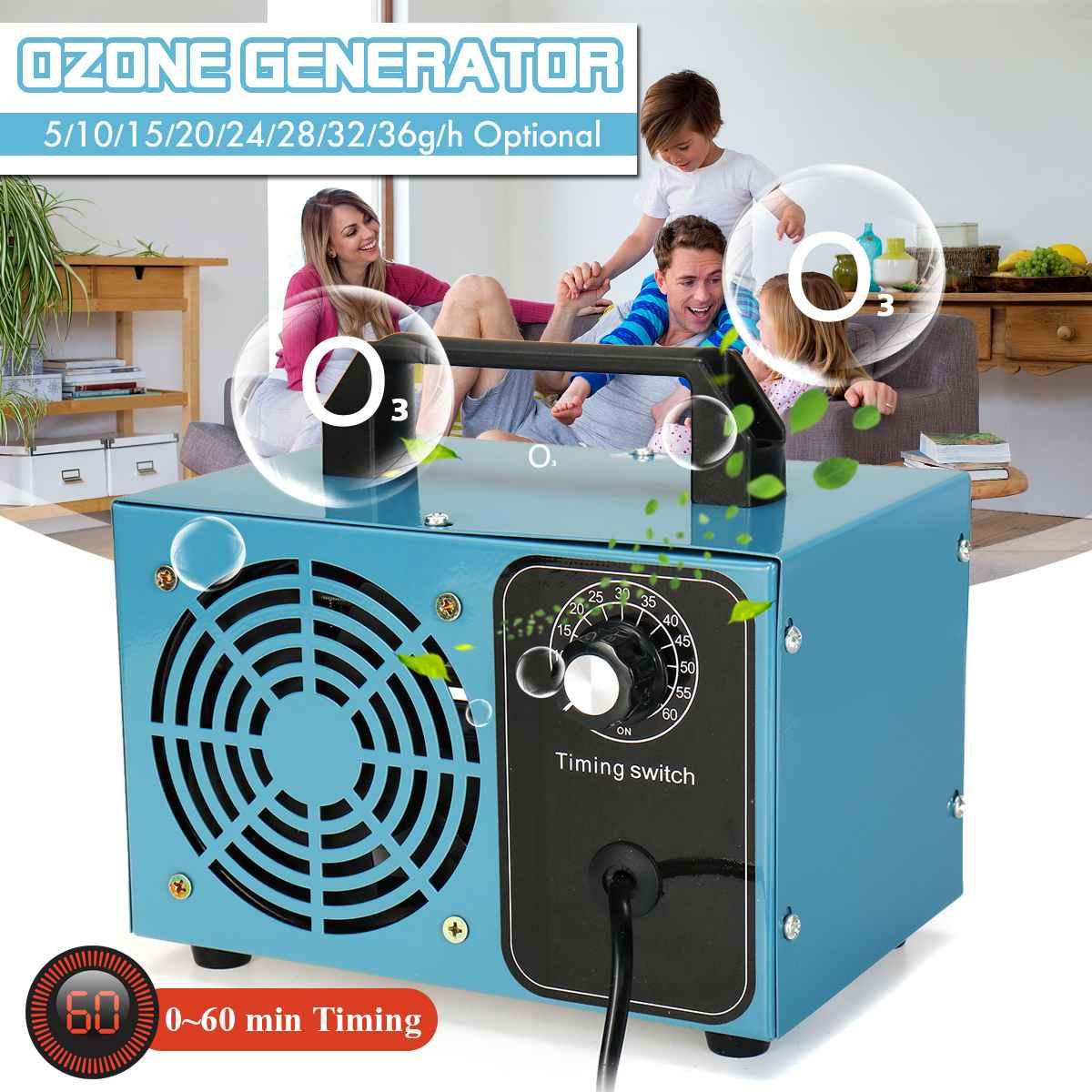 220V ozone generator 36g 28g ozone machine Air Purifier Sterilizer treatment Ozone addition to formaldehyde machine with timer