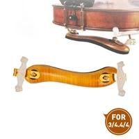 adjustable 34 44 violin shoulder rest padded fiddle quality flamed maple wood violin shoulder rest