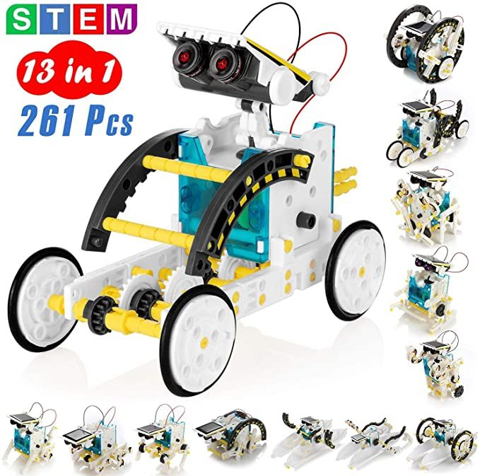 Solar Powered Robot DIY Assembled Kit Science Educational Toys For Children 13 Forms Transformation Robot Boy Gift School STEM