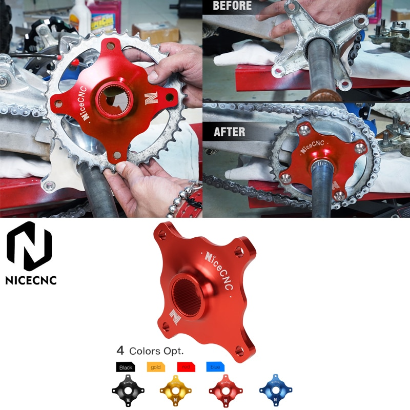 NICECNC ATV Racing Billet Sprocket Hub For Yamaha Raptor 700 700R 2006-2020 2019 2018 Aluminum Sprocket Wheel Hub Cover Guard