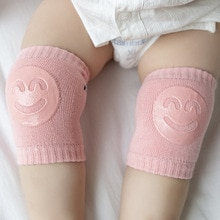 New Kids Girls Non Slip Crawling Elbow Infants Toddlers Baby Accessories Smile Knee Pads Protector S