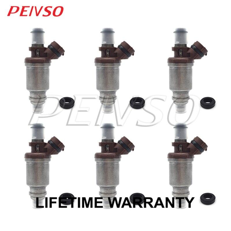 6x 23250-46031 23209-46031 kraftstoff injektor für TOYOTA Supra 1995 ~ 1996 Lexus GS300 1995 ~ 1997 3,0 L 2JZ-GE