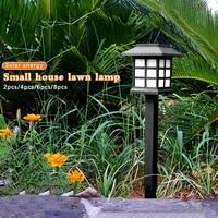 waterproof led solar pathway lights outdoor solar lamp for garden landscape yard patio driveway walkway