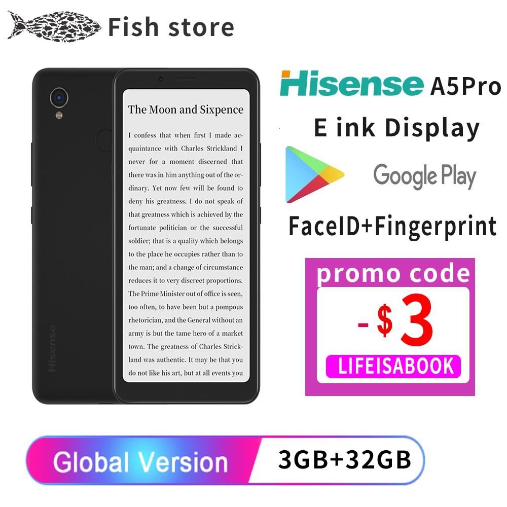 Перейти на Алиэкспресс и купить Google play Hisense A5 Pro eink экран дисплея сканер отпечатков пальцев Android 10 5,84 дюймЭлектронная книга мобильный телефон Yota Kindle e ink смартфон