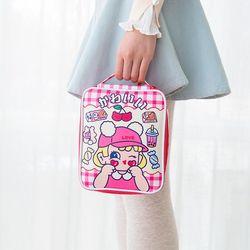 Estojo para crianças de grande capacidade, bolsa para lápis e canetas de desenho animado para estudantes saco do saco