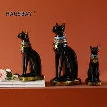 Harz Katze Statue Handwerk Ägyptischen Katze Gott Ornament Home Decor Kreative Geschenke Startseite Fengshui Glück Handwerk Tier skulptur 05395