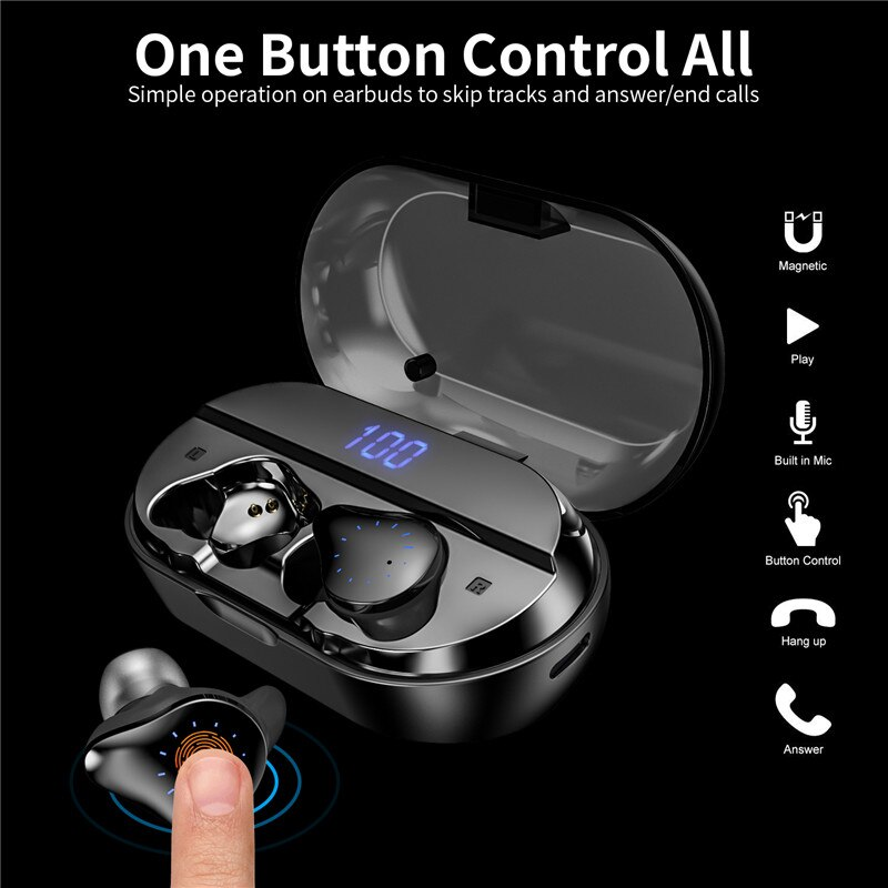 Auricular in-ear auriculares X10 TWS True Wireless Bluetooth5.0 Running teléfono deportes para Xiaomi Huawei Honor para teléfono inteligente fone de ouvido bluetooth for iphone/mini fone de ouvido