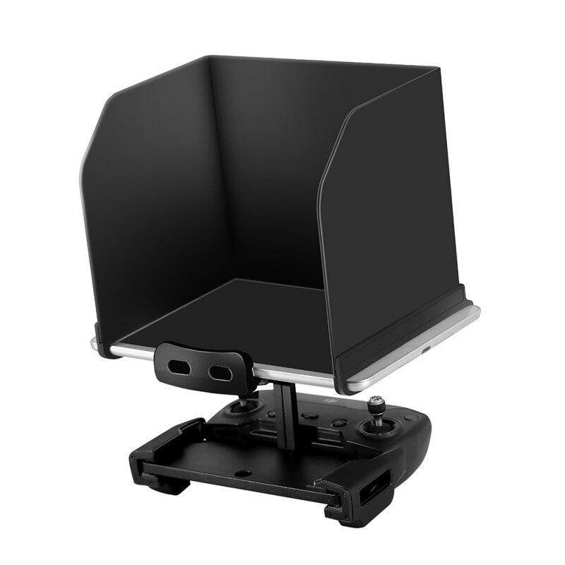 Teléfono parasol para tablet para DJI Mavic Pro aire chispa Phantom 4 3 para Mavic 2 Pro Zoom Drone control remoto capucha plegable negro