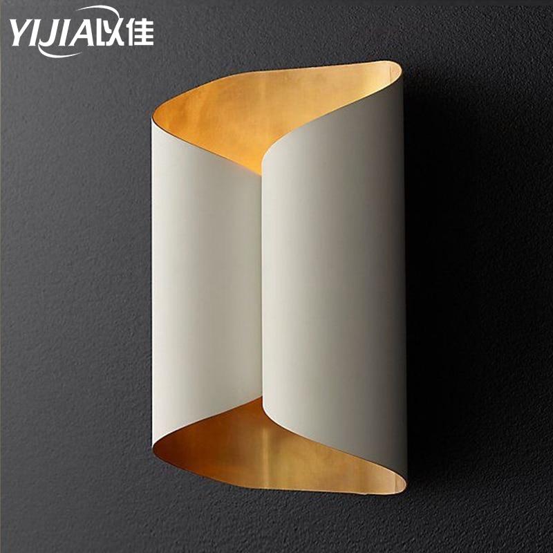 Minimalista moderno de aluminio LED lámpara de pared led lámpara de habitación luz para espejo de baño directo creativo pasillo pared artes decorativas