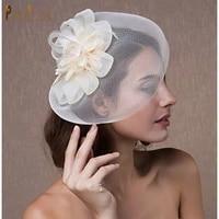 jm02 elegant ladies mariage mesh fascinator hat fancy bridal veils chapeau cap fashion church headwear womens birdcage veil