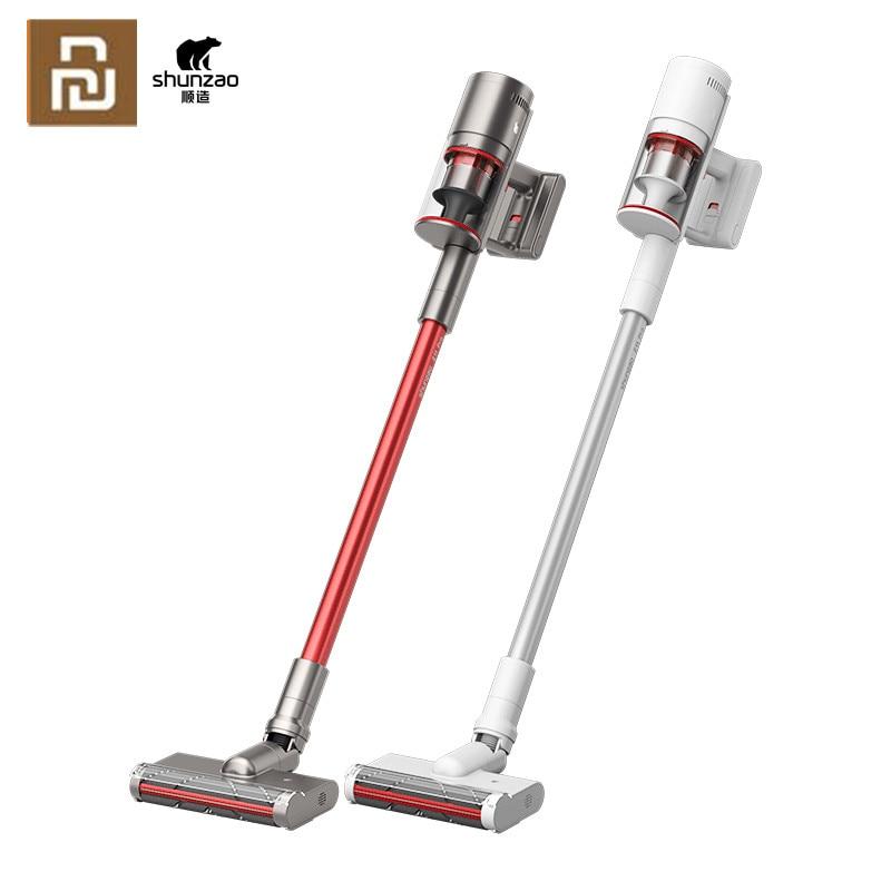 Youpin shunzao z11/z11 pro handheld aspirador de pó sem fio 26000pa 150aw sucção corte cabelo aspirador
