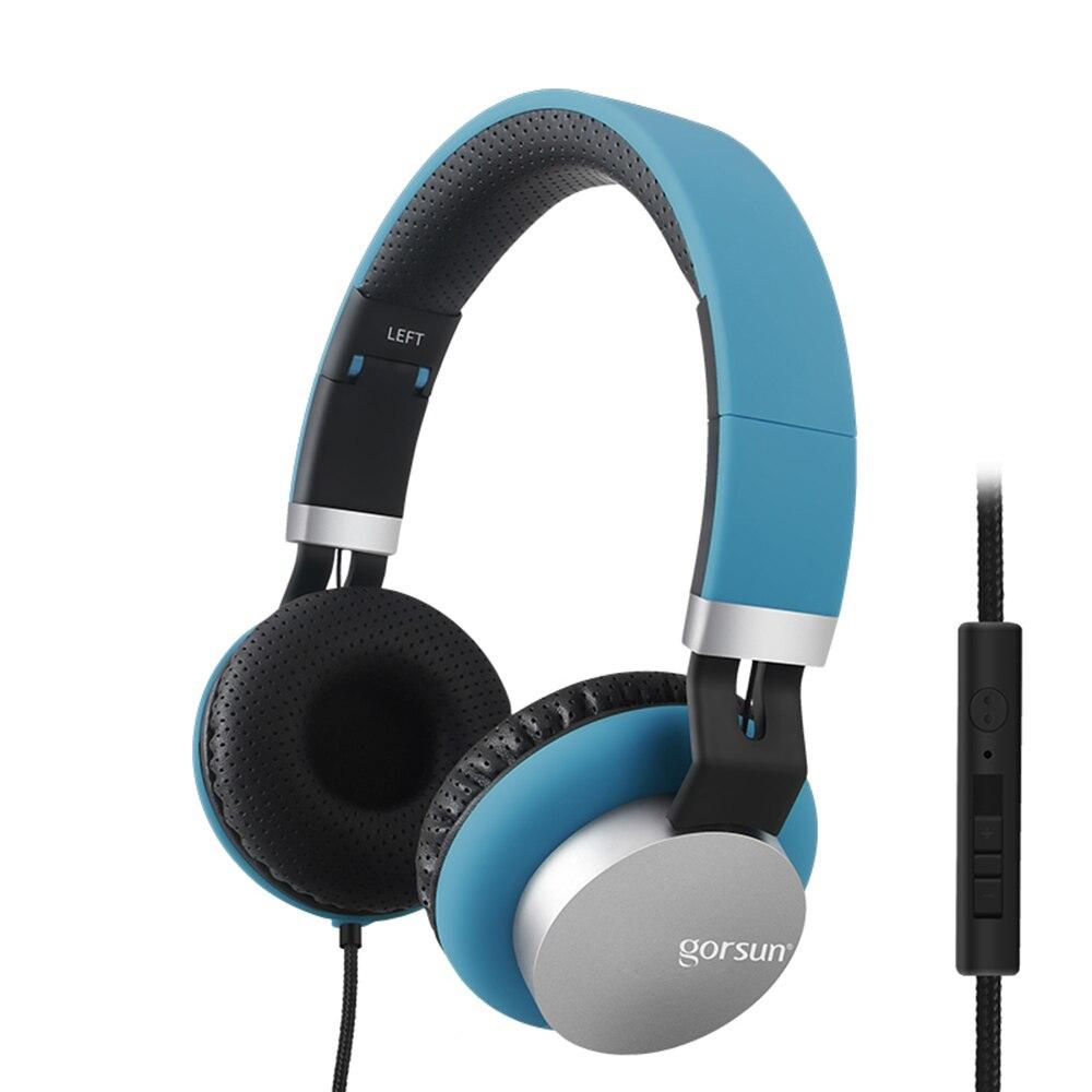 GS-789 auriculares de música con cable, auriculares plegables con Control de volumen y micrófono de 3,5mm
