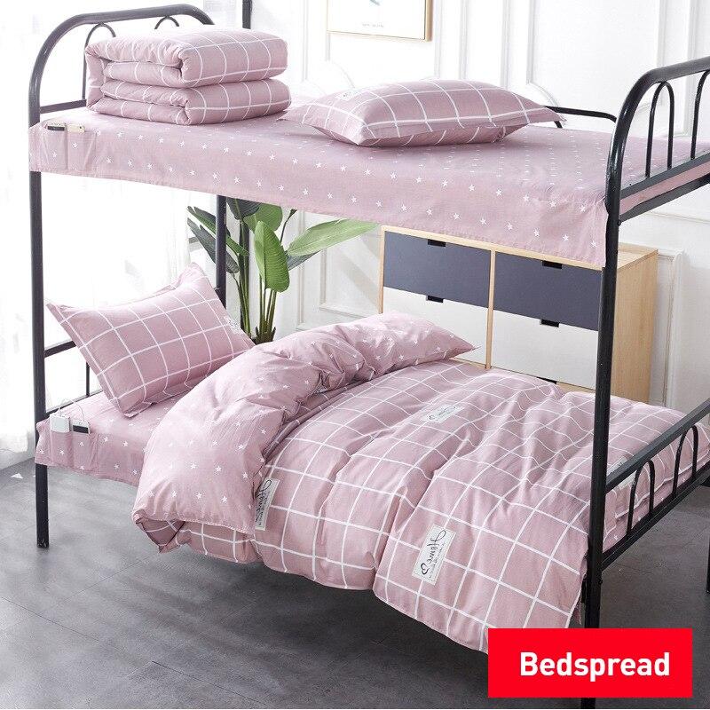 0.9 متر/1 متر/1.2 متر السرير 3 قطعة مجموعة غطاء لحاف من القطن المخدة طالب عنبر سرير بطابقين سرير مفرد القطن أغطية سرير مجموعة تغطية مبطنة