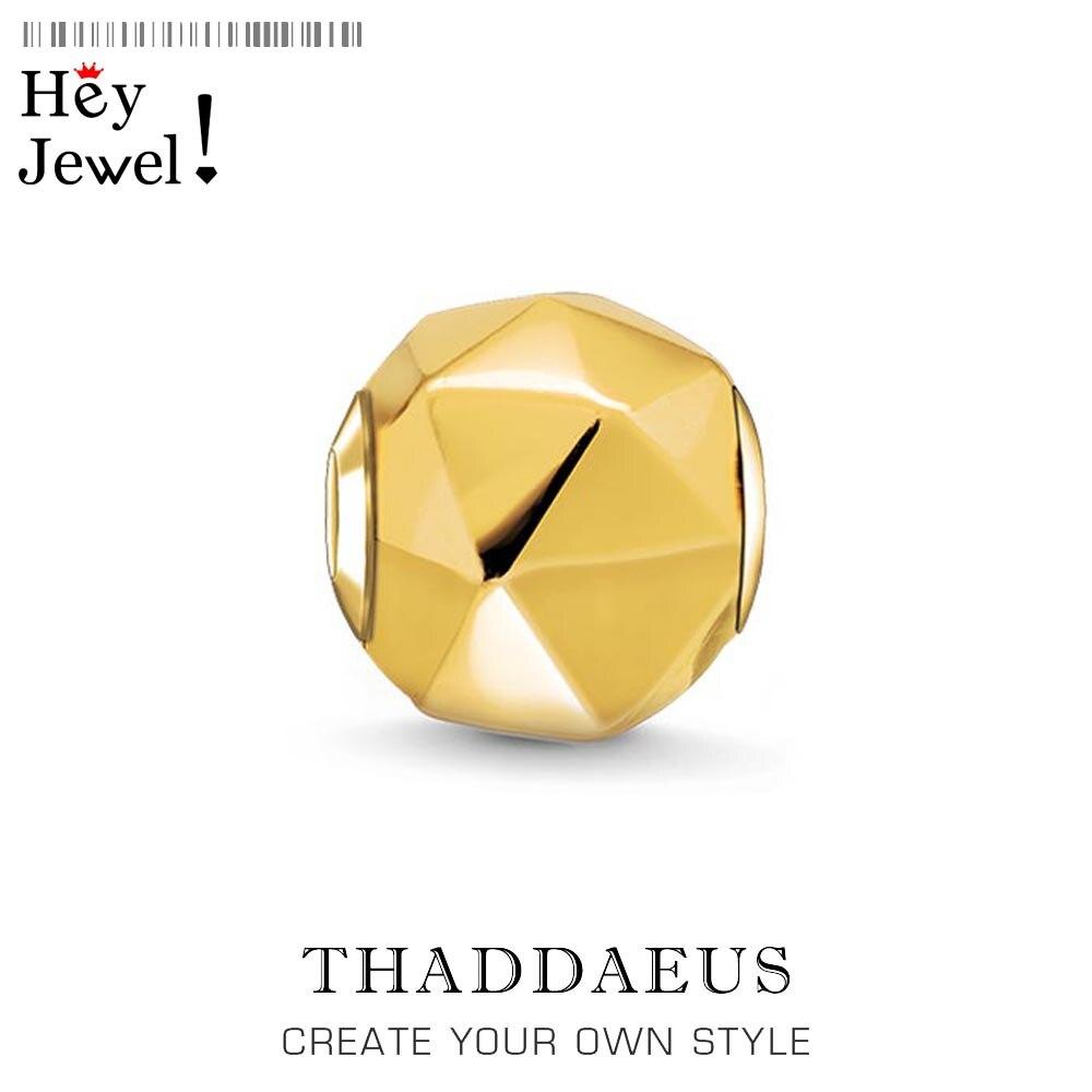 Cuentas triangulares, cuentas de colores dorados, se adapta a brazaletes, collar Thomas, DIY, color dorado, accesorios de joyería, regalo para hombres y mujeres