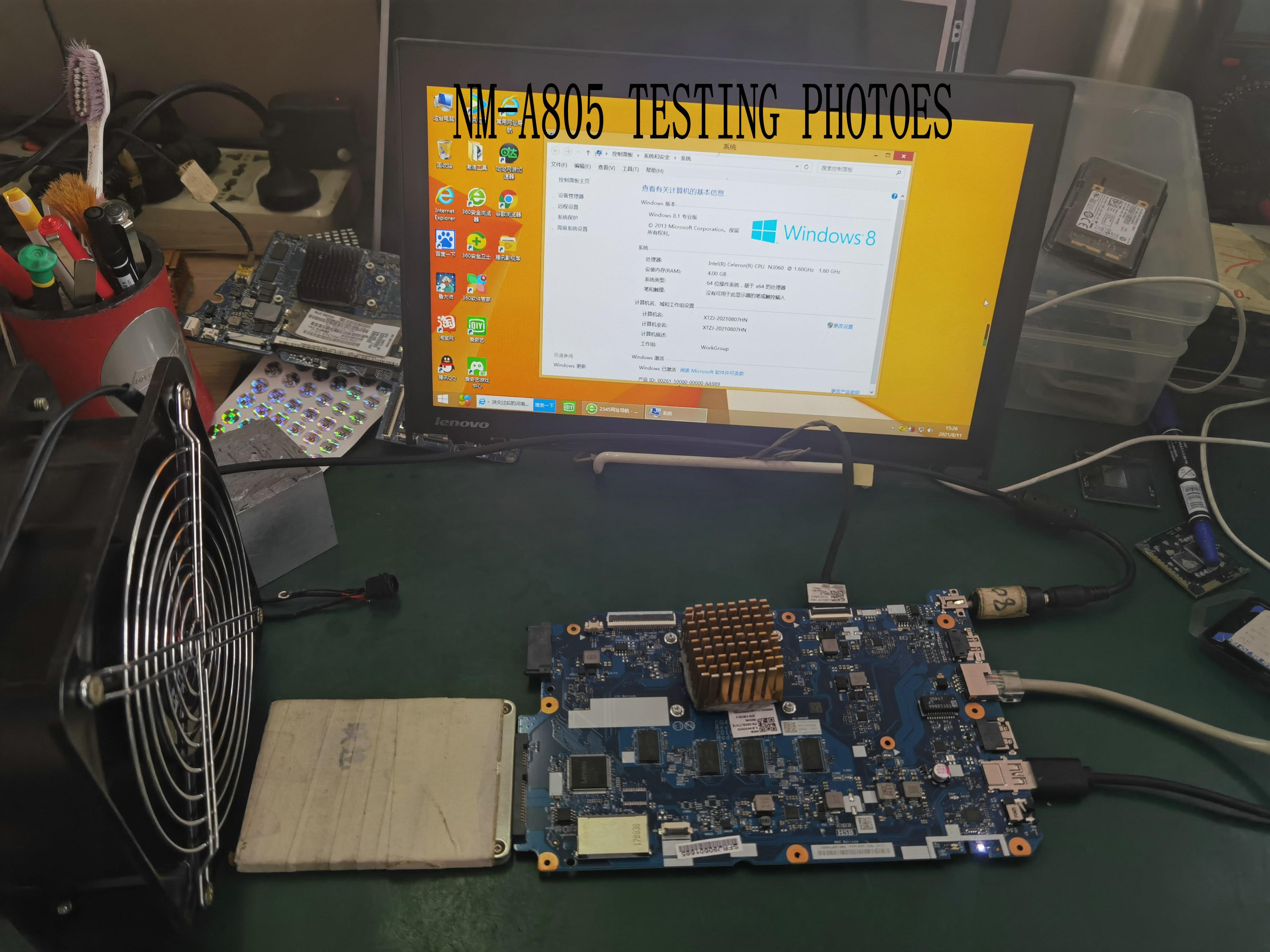 العلامة التجارية الجديدة 5B20L77417 CG420 NM-A805 اللوحة الرئيسية لينوفو 110-14IBR اللوحة الرئيسية المعالج N3060 4GB RAM.