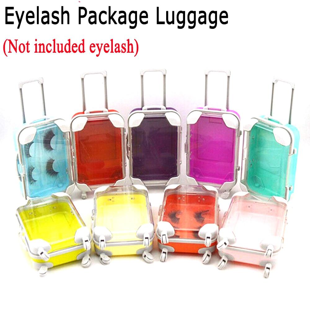 1 pçs plástico vison chicote bandeja multicolorido vison cílios cílios pacote mala caixa de bagagem forma cílios postiços caixa de armazenamento