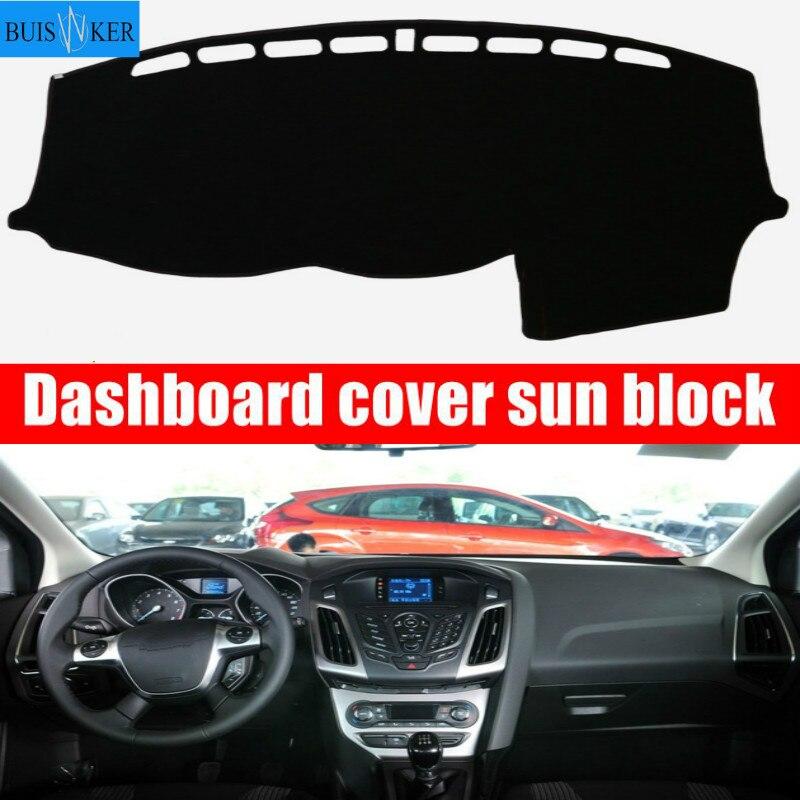 for Ford Focus 3 MK3 2012 2013 2014 2015 2016 2017 2018 Car Dashboard Cover Dash Mat Dash mat Dash Board Cover Pad Sun Shade