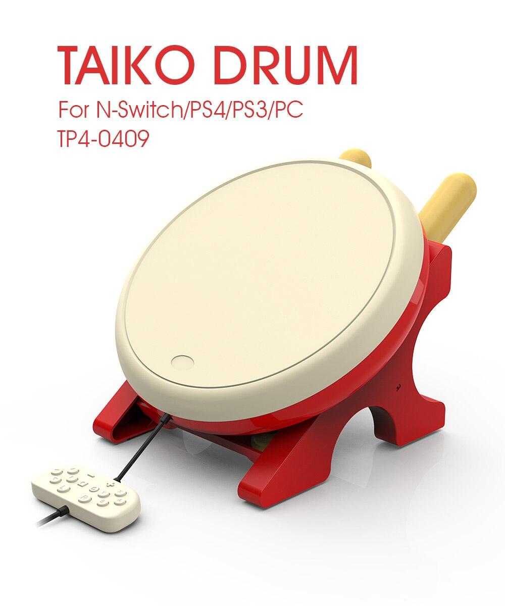 Bateria de jogos para ns joy-con vídeo game taiko tambor para nintendo switch para ps3 ps4 pc taiko sem acessórios de jogos de vídeo tatsujin