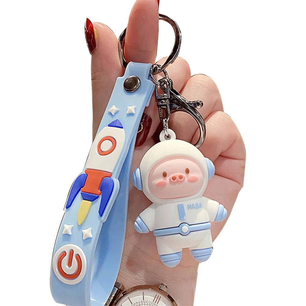 NEW Kpop Cartoon Cute Space Piggy Keychains Pendant Figure Doll Toys Student Kids Women   Bag Car Ac