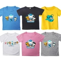 kids octonauts print t shirts for girls boys teens cartoon tshirts summer children anime t shirts tee tops toddler streetwear