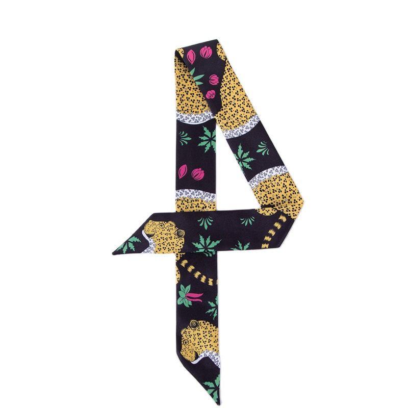 New Design Ladies Luxury Scarf Fashion Leopard Print Beach Scarf and Shawl Skinny Tied Bag And Hair Scarf C109 leopard print skinny scarf