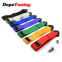 DepoTuning 7 Kleuren Universal Tow strap hoge kwaliteit ras auto tow strap/touwen/haak/slepen bars met logo