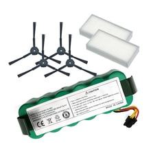 NI-MH 14.4V 3500mAh panda X500 Battery*1+Side Brush*4 +Hepa Filter*2 for Ecovacs Mirror CR120 Vacuum cleaner for Dibea X500 X580