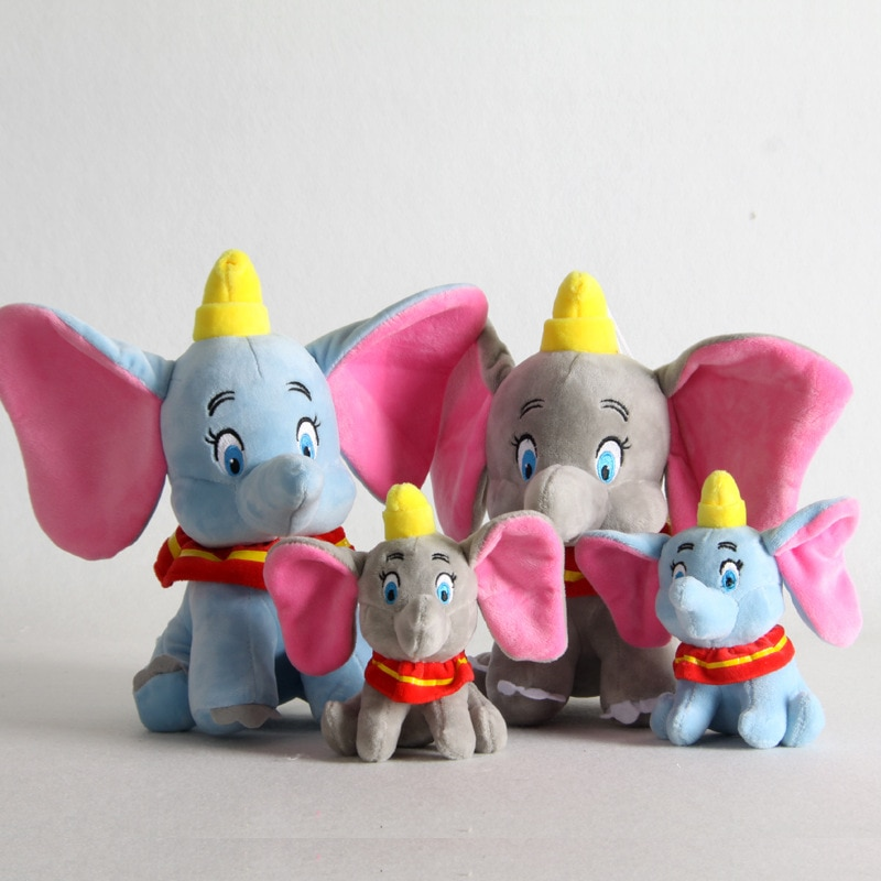 LLavero de juguete de peluche Dumbo, bonito elefante de peluche de 15/25cm