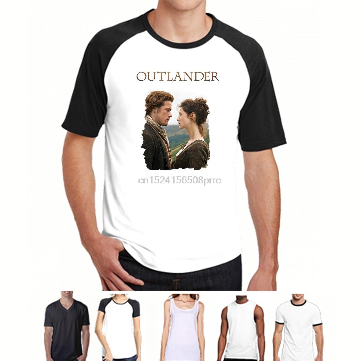 Outlander Tv Show póster Cool verano algodón Casual hombres camisetas